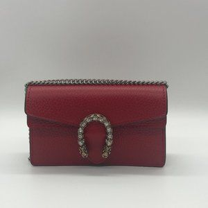 AUTHENTIC GUCCI Dionysus Leather Super Mini Bag